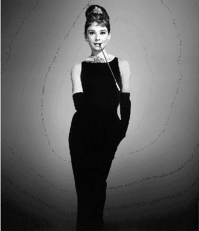 La mujer vestida de negro